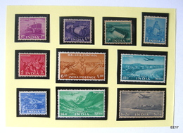 INDIA 1955 Tractor Series 10 Stamps Scott: 254-55, 257-58, 260-61, 263-65 & 267. MH MM - Nuevos