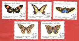 ARGENTINA - 1985 Butterflies - Vari ₳ - Austral - Michel AR 1777 - 1781 - Neufs