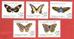 ARGENTINA - 1985 Butterflies - Vari ₳ - Austral - Michel AR 1777 - 1781 - Argentina