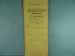 Acte Notarié  1861 Echange Entre Bastin-Colin De Rance /5/ - Manuscrits