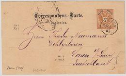 "Österr.,  1886, "" Vigaun ""  - Krain -, Selten!  , #a231 - 1850-1918 Imperium"