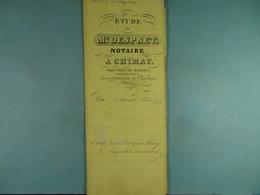 Acte Notarié  1860 Vente De Thiry De Baileux à Coulonval De Vaulx /6/ - Manuscrits