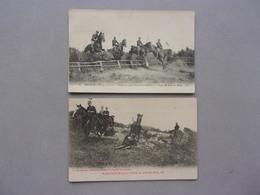 D  49     SAUMUR     2 CPA   LA CAVALERIE ( AVANT 1910 ) - Saumur