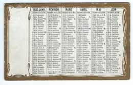 CALENDRIER DE POCHE 1923 - Calendars