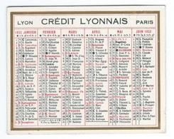 CALENDRIER DE POCHE 1932 CREDIT LYONNAIS - Calendars