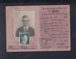 Dt. Reich Postausweiskarte 1942 - Briefe U. Dokumente