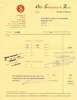 Factuur Facture - Drukkerij Alb. Schautteet & Zoon  - Gent 1968 - Imprimerie & Papeterie