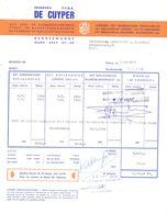 Factuur Facture - Drukkerij De Cuyper - Dendermonde 1968 - Imprimerie & Papeterie