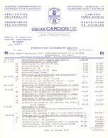 Factuur Facture - Electriciteit Oscar Cardon - Gent 1968 - Electricity & Gas