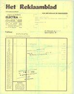 Factuur Facture - Drukkerij Het Reklaamblad - Sint Niklaas 1968 - Imprimerie & Papeterie