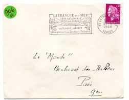 VENDÉE - Dépt N° 85 = LA TRANCHE Sur MER 1968 = FLAMME Codée = SECAP Illustrée ' COTE LUMIERE / FLEURS' - Marcophilie (Lettres)