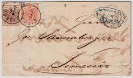 """Österr., 1853, """" SISSEK """" Auf Brief  , #a236 - 1850-1918 Empire"""