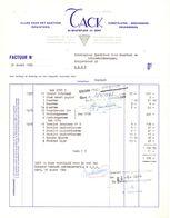 Factuur Facture - Alles Voor Kantoor Tack  - Gent 1968 - Imprimerie & Papeterie