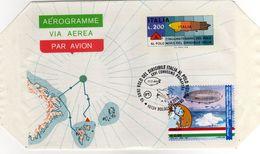 Italia 2018 Annullo Bologna Volo Dirigibile Italia Al Polo Nord Combo Con Aerogramma Del 1978 - Spedizioni Artiche