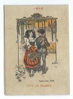CALENDRIER DE POCHE 1918 Editions LAPINA  VIVE LA FRANCE - Calendars