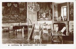 COMPIEGNE-CHATEAU-SALON DE MUSIQUE-HARPE-PIANO - Bibliothèques