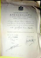 SERBIE  GUERRE 1914 / 1918 DECORATION YOUGOSLAVE  EN CYRILLIQUE ATTRIBUEE AU SOLDAT GOLTZNE CACHET SEC ET SIGNATURES - Documents