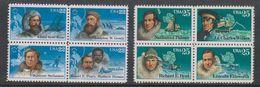 USA 1986 + 1988  Explorers / North Pole & South Pole 2x Bl Of 4  ** Mnh (38251N) - Nuovi