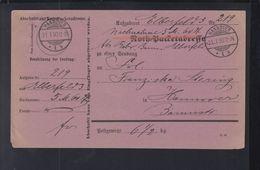 Dt. Reich Nachnahme Postadresse 1890 Hannover - Lettres & Documents