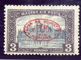 DEBRECEN 1919 3 Kr Parliament With Red Overprint LHM / *.  Michel 31a - Debreczen