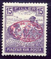 DEBRECEN 1919 15f Harvesters With Red Overprint MH / *.  Michel 19b - Debreczen