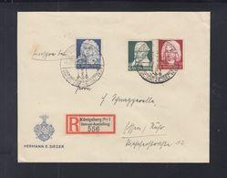 Dt. Reich R-Brief 1935 Sonderstempel Ostropa Königsberg - Briefe U. Dokumente