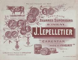 Carentan - Laiterie LEPELLETIER - RARE - Petit Fascicule Publicitaire - Fabrique De Beurre - 13 Scan - Publicités