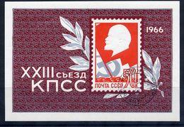 SOVIET UNION 1966 Communist Party Day Block Used..  Michel Block 42 - 1923-1991 USSR