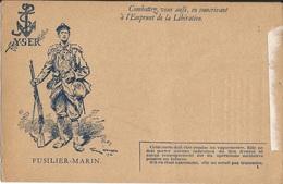 CARTE  FRANCHISE  MILITAIRE  /  EMPRUNT  DE  LA  LIBÉRATION  / YSER  FUSILIER  MARIN  /  Georges Scott - Autres