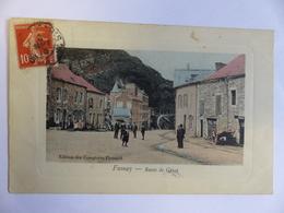 TRES RARE FUMAY ROUTE DE GIVET ANIMEE EDITION COMPTOIRS FRANCAIS ECRITE 1913 - Fumay