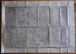 Lot De 5 Anciennes Cartes Géographiques D'Etat Major Des Armées Région De Nantes Saint Nazaire Ancenis Loire Atlantique - Carte Geographique