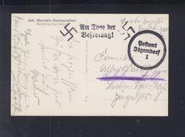 Dt. Reich Sudeten AK Jägerndorf Gelaufen - Briefe U. Dokumente