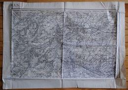 Lot De 4 Anciennes Cartes Géographiques D'Etat Major Des Armées 14-18 WW1 Verdun Nord Douai Arras Est Metz - Geographical Maps