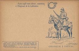 CARTE  FRANCHISE  MILITAIRE /  EMPRUNT  DE  LA  LIBÉRATION  /  CHASSEUR  A  CHEVAL  /  Georges  Scott - Guerre 1914-18