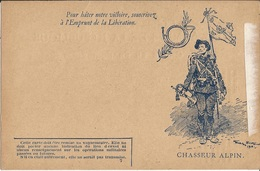 CARTE  FRANCHISE  MILITAIRE  /  EMPRUNT  DE  LA  LIBÉRATION  /  CHASSEUR  ALPIN  /  Cor De Chasse  Clairon - Autres