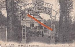 """AUDERGHEM - 81, Chée De Tervueren """"Chalet Robinson - Café Restaurant Brasserie De La Chasse Royale""""Menu Vendredi-saint - Auderghem - Oudergem"""