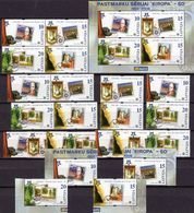 Stamps On Stamp Lettland 652/9A/C,4x ZD,4x ER,VB+Block 21 ** 23€ 50Jahre CEPT 2006 Bloc Se-tenants Sheets Bf EUROPA - Timbres