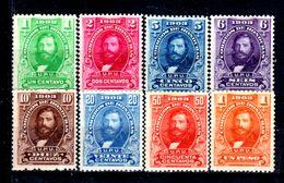 Honduras-0015 - 1903: Y&T N. 92/99 (+/sg) Hinged/NG - - Honduras