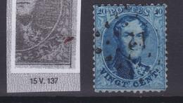 N° 15 A  VARIETE Tiret Sur Le Cadre  Position 137 De La Planche - 1863-1864 Medaillen (13/16)