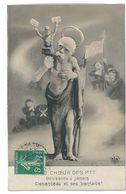 CPA MAQUETTE WALERY LE COEUR DES PTT CLEMENCEAU Caricature Politique Satirique Illustrateur - Other Illustrators