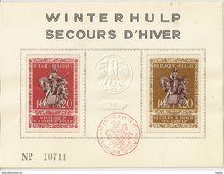 """BELG.1943 613-614 Souvenircard """"Winterhulp-secours D'hiver"""" Lim.edition - ....-1951"""