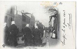 MARANS  N 2 RUE D ALLEGRE   TIRAGE 1900 GROS PLAN PERSONNAGES     Tache Haut Voir Scan DEPT 17 - Autres Communes