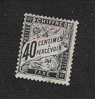 FRANCE TIMBRE TAXE Nr 19 OBL TRACE CHARNIÈRE : - 1859-1955 Cartas