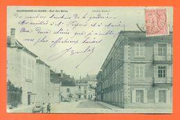 """CPA 52 Bourbonne Les Bains """" Rue Des Bains """" LJCP 61 - Bourbonne Les Bains"""