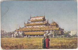 The Golden Kyoung, Mandalay, Burmah - (Raphael Tuck 'Oilette' Postcard) - Myanmar (Burma)