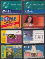 Prepaid Cards Set 1    > 8 Cards (different Countries) - Telefonkarten