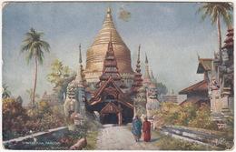 Shwegeena Pagoda. Pagan. Burmah - (Raphael Tuck 'Oilette' Postcard) - Myanmar (Burma)