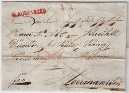 """"""" KLAUSENBURG """" Rot, 1832 , #a218 - ...-1850 Prephilately"""