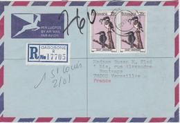 BOTSWANA 1980 LETTRE RECOMMANDEE DE GABORONE AVEC CACHET ARRIVEE VERSAILLES - Botswana (1966-...)