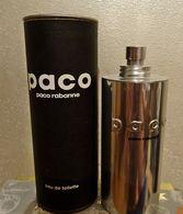 "Flacon ""PACO"" De PACO RABANNE Dans Sa Boîte En Carton Cylindrique EDT 100 Ml VIDE Pour Collection - Flacons (vides)"